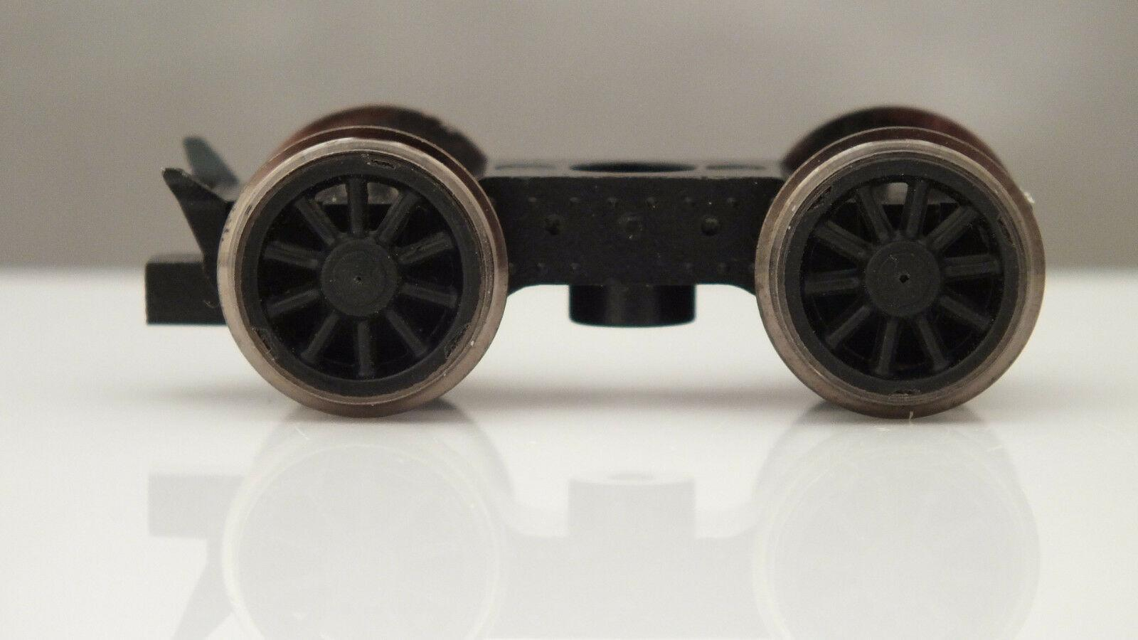 X6337 HORNBY FRONT BOGIE ASSEMBLY TORNADO BLACK WHEELS         X21A