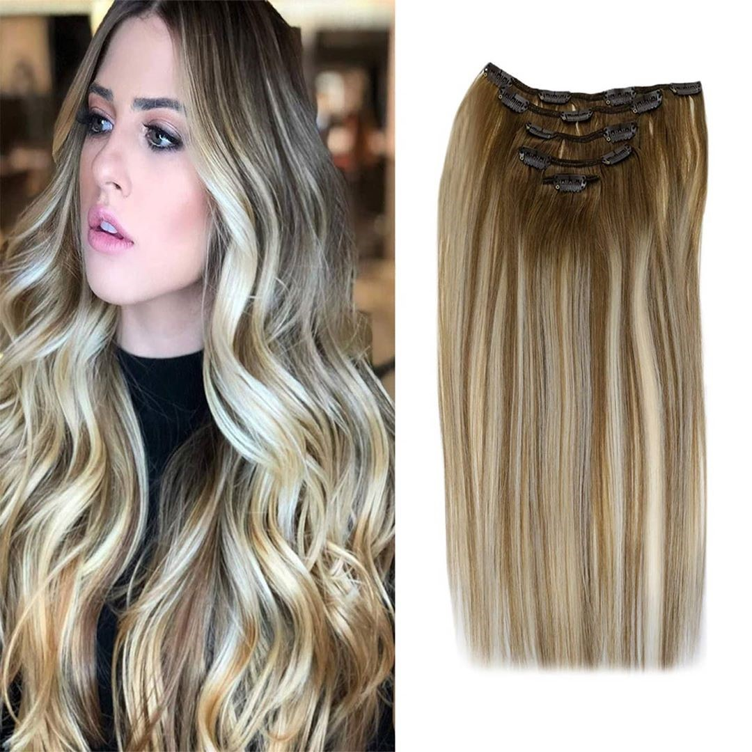 Brazilian 18 inch extensions/18 clips