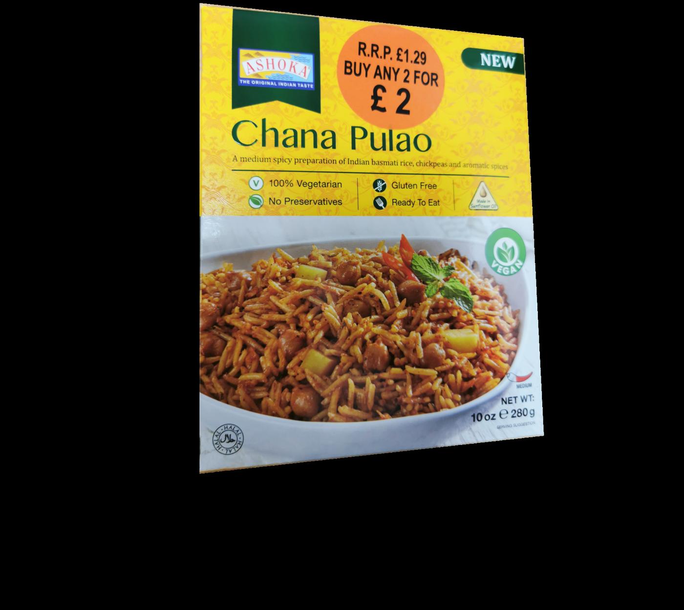 Ashoka Chana Pulao (Vegan)