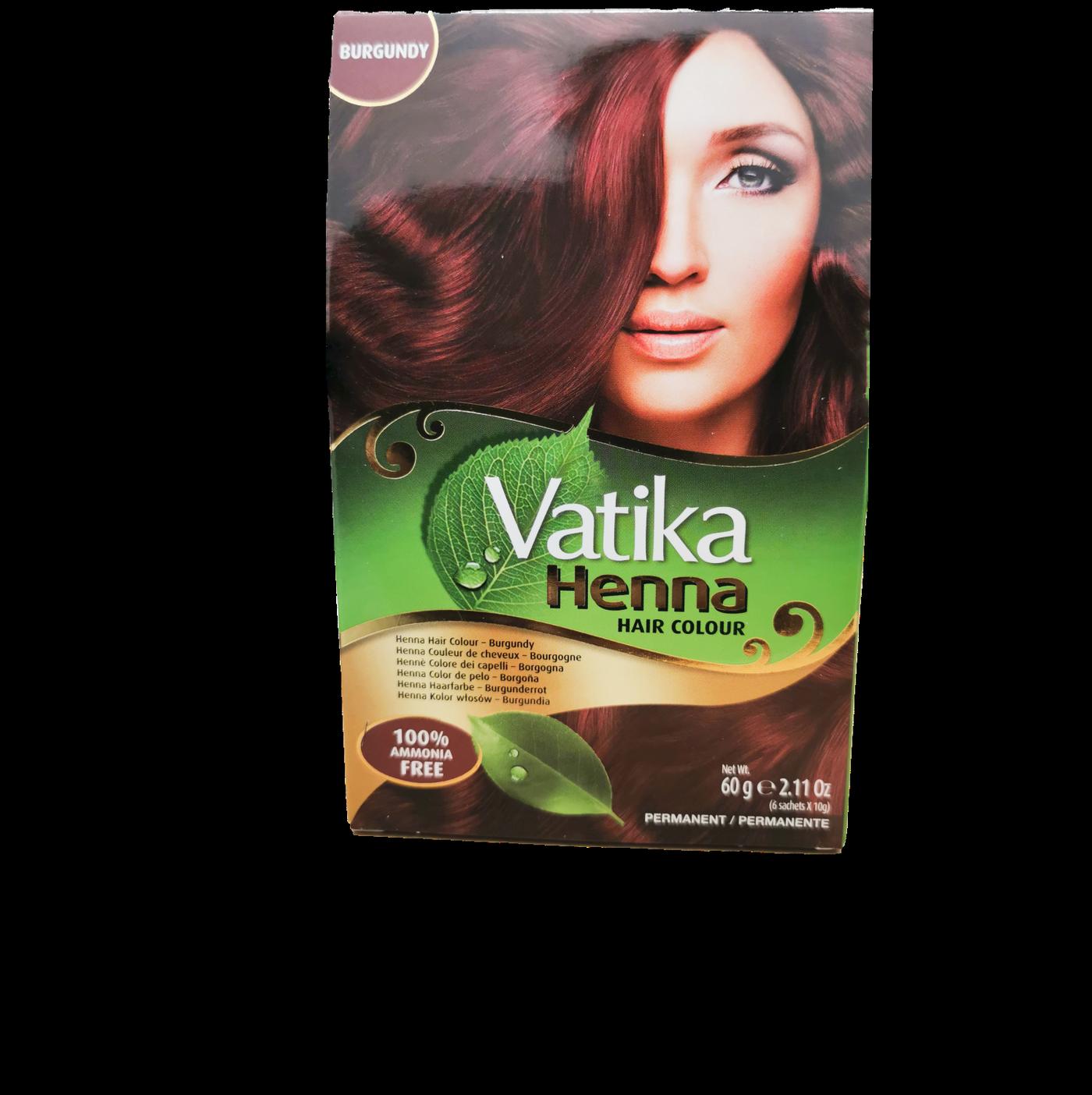 Vatika Henna Hair Colour (Burgundy)
