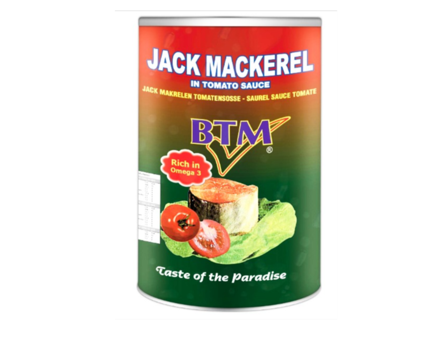 BTM Jack Mackerel In Tomato Sauce