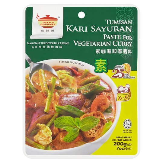 Teans Gourmet Tumisan Kari Sayuran (Paste for Vegetarian Curry)