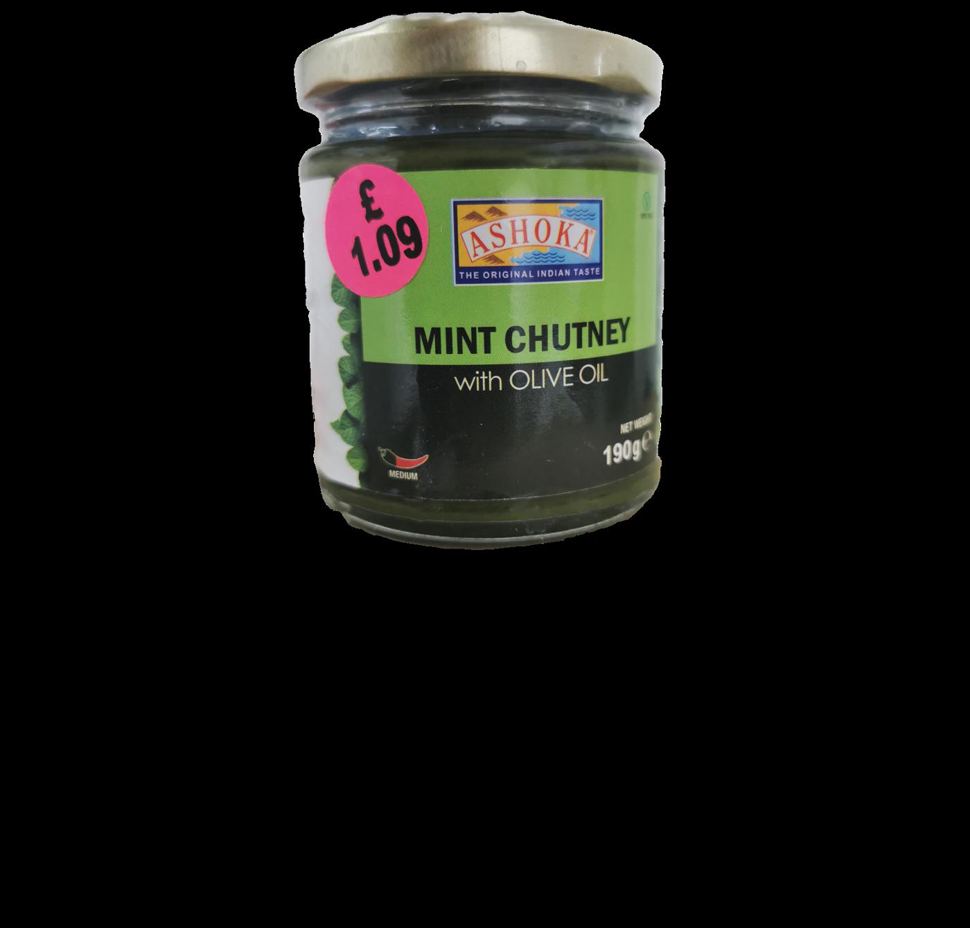 Ashoka Mint Chutney with Olive Oil