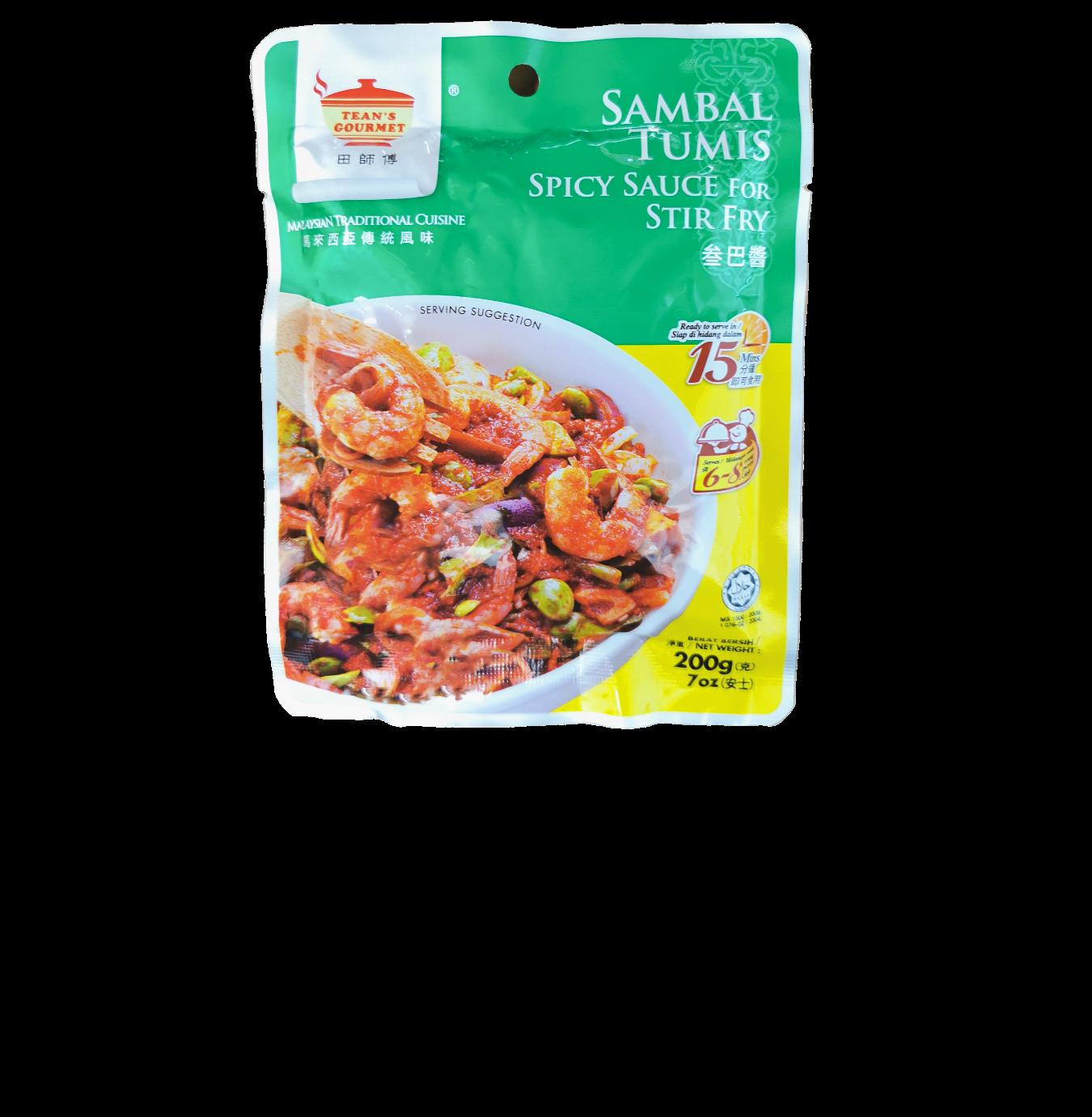 Teans Gourmet Sambal Tumis (Spicy Sauce for Stir Fry)