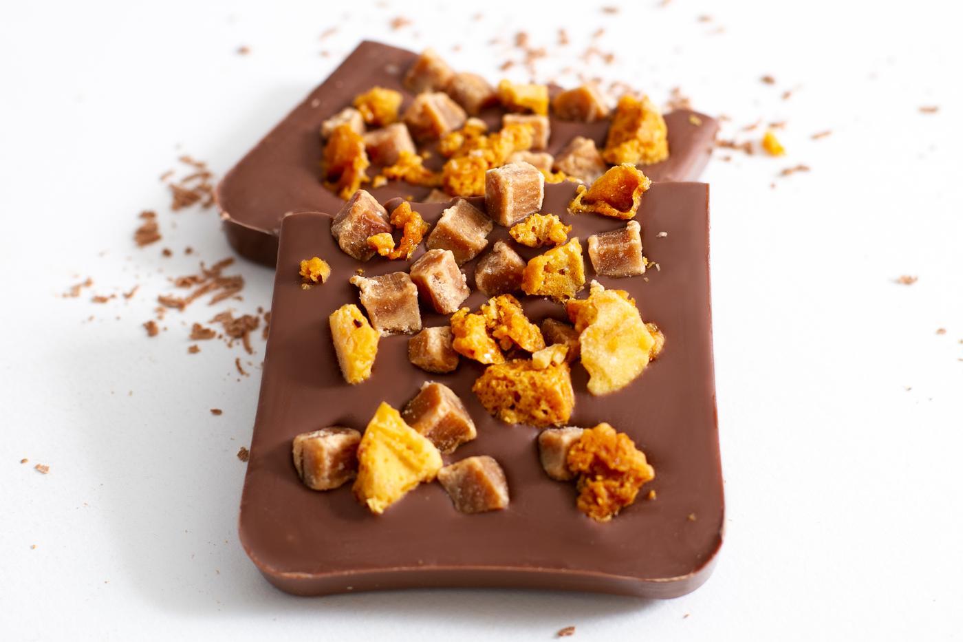 Milk Chocolate Honeycomb-Fudge Slab Bar