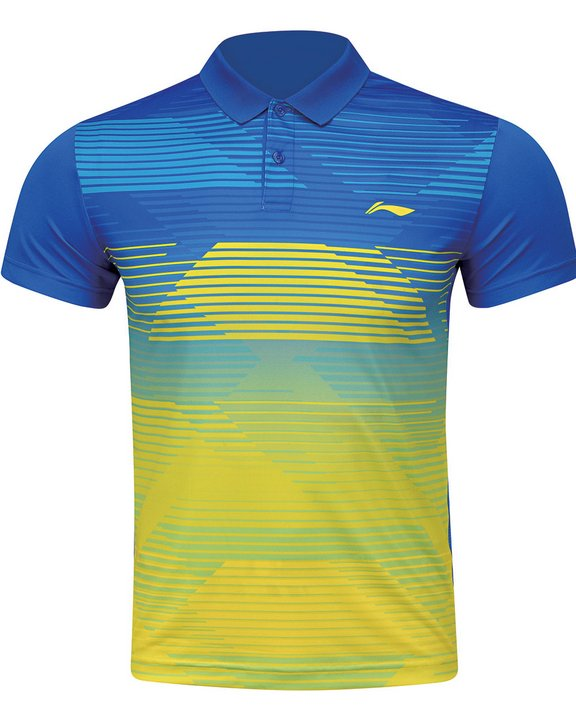 Li Ning Badminton Shirt Men-s Blue Brand New