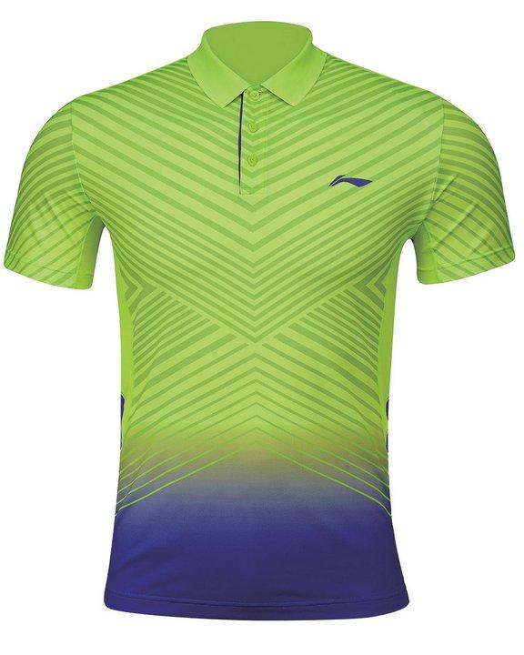 Li Ning Badminton Shirt Men-s Green Brand New