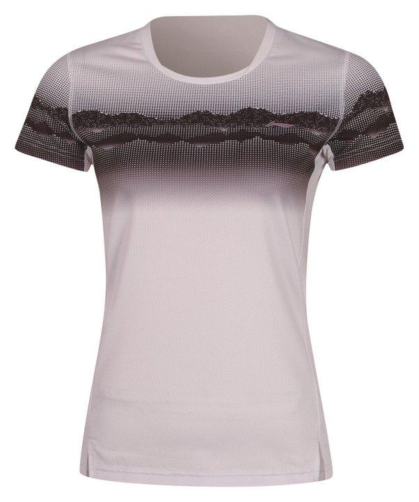 Li Ning Badminton T-Shirt Ladies White - Black