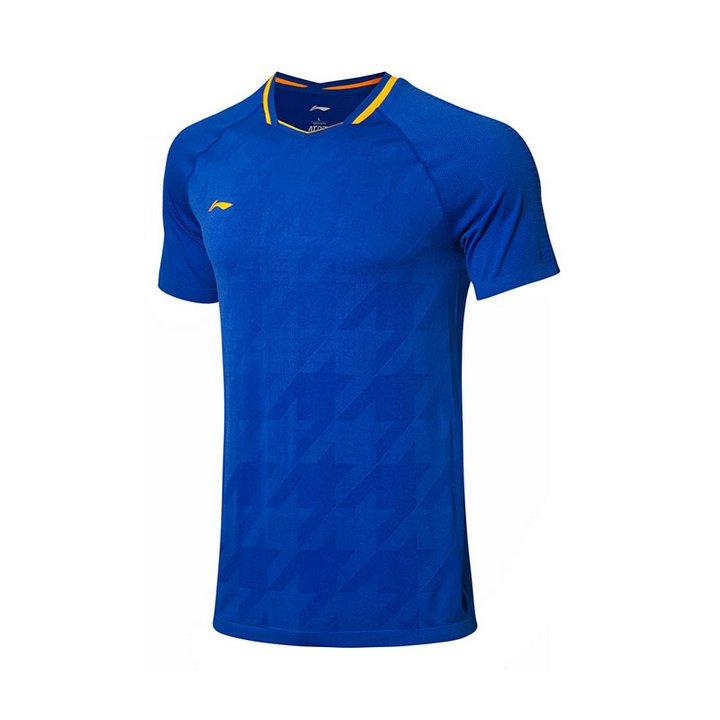 Li Ning Badminton T-Shirt Men-s Blue