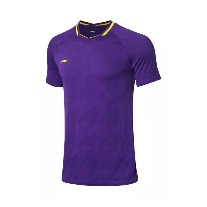 Li Ning Badminton T-Shirt Men-s Purple