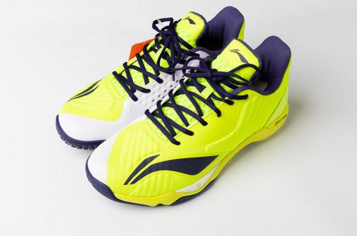 Li Ning Mens Professional Badminton Shoes - Green - Blue