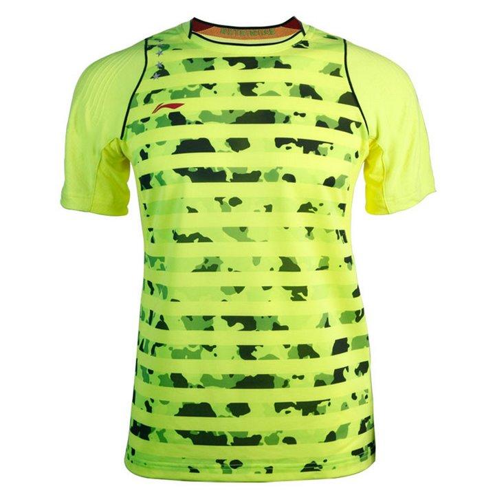 Li Ning Premium Badminton Shirt Men-s Size M Green Brand New
