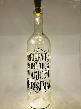 Personalised Light up Wine Bottle