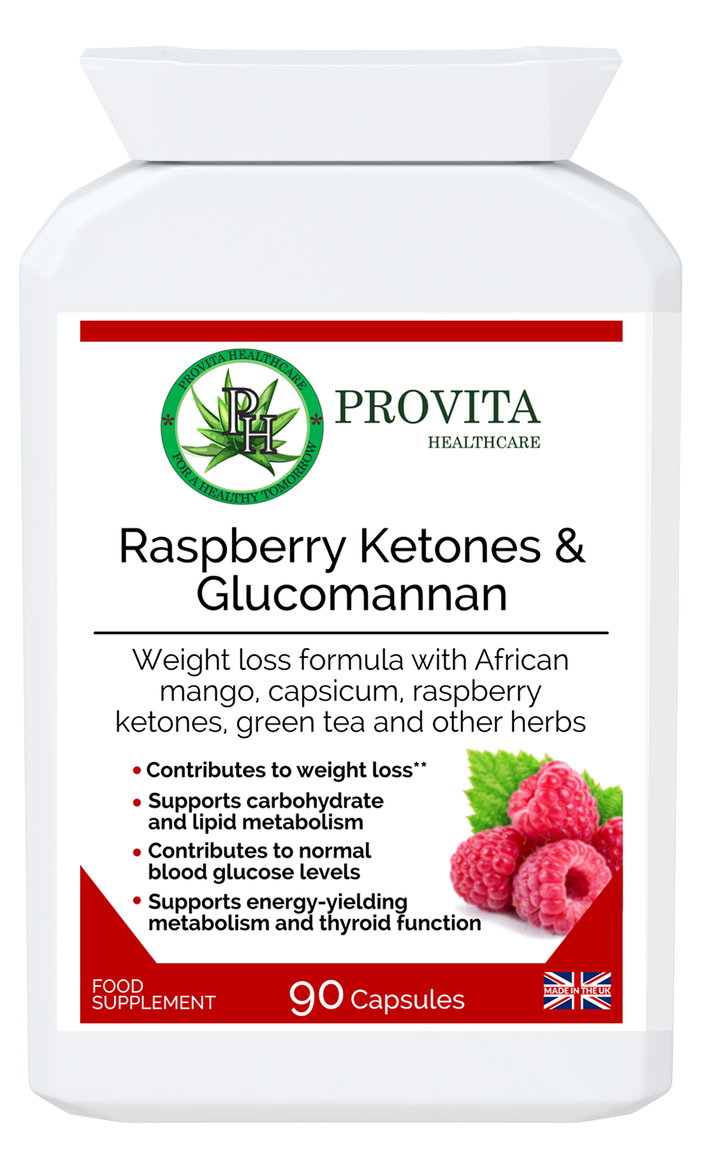 Raspberry ketones & Glucomannan Weight Loss Aid