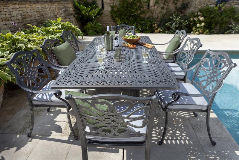 Capri 8 Seat Rectangular Dining Set
