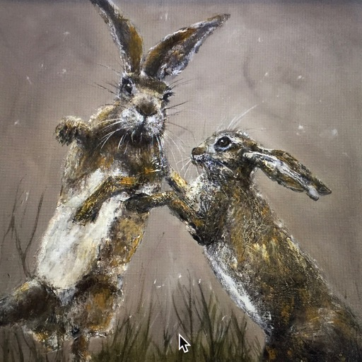 FIGHTING HARES PRINT