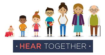 Hear Together <br> Registered charity:  1188842 charity for deaf people Nottinghamshire