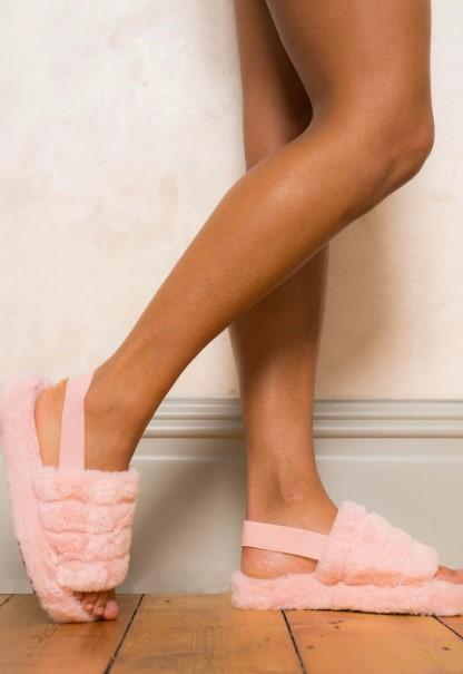 Womens elasticated mule slipper