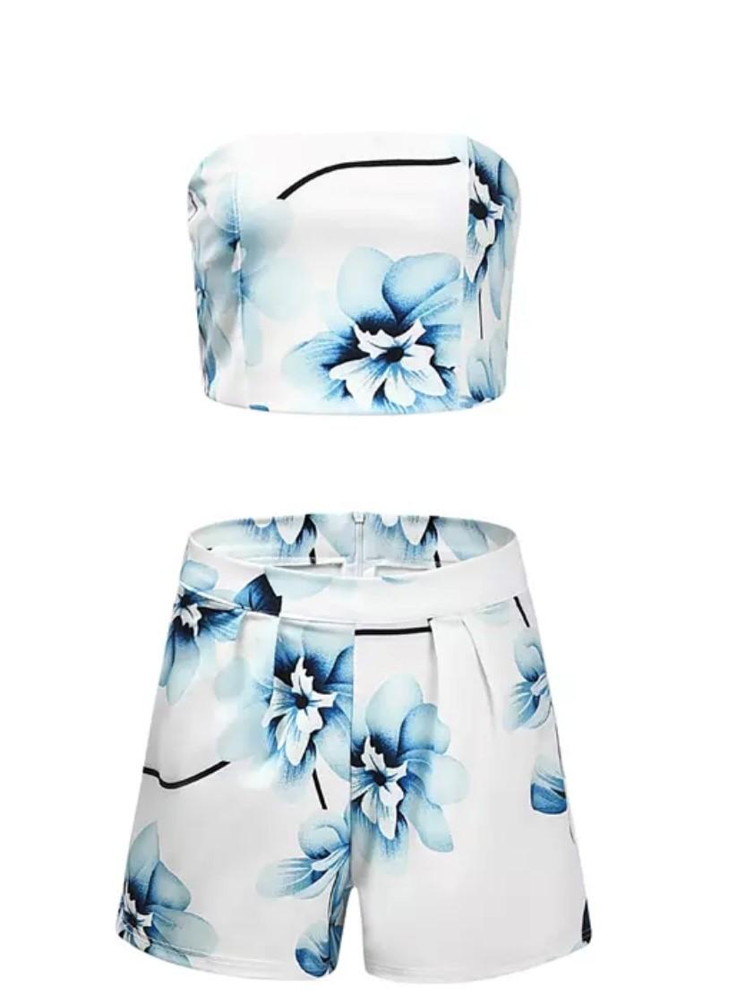 Womens 2 piece floral short set