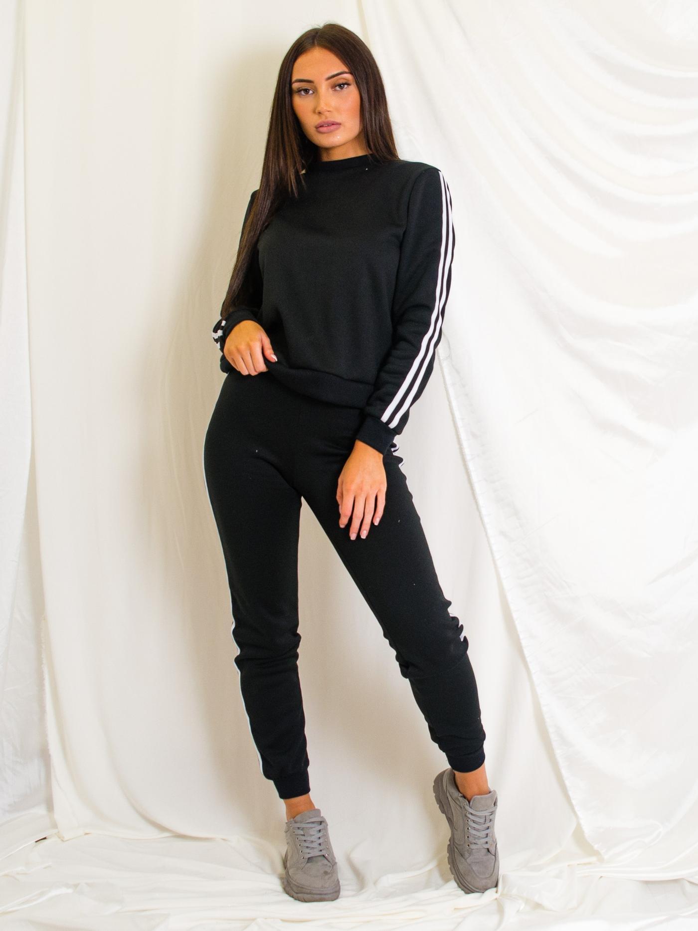Womens side striped jogger loungewear set