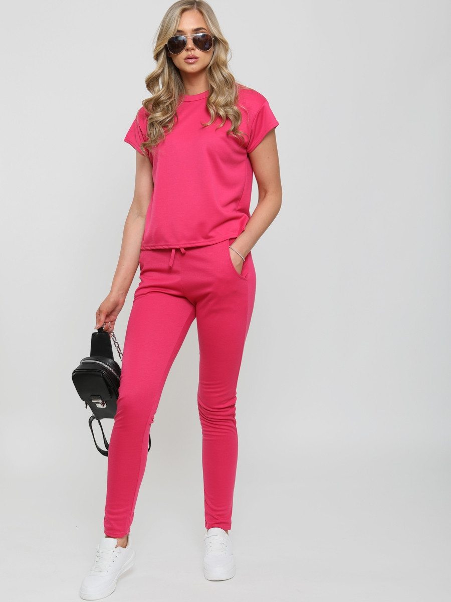 Womens top and jogger loungewear set