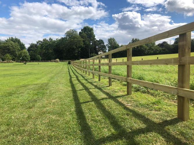 Busy Week of Post and Rail This week has seen us start and finish a fencing project in Boxted, Colchester comprising of 475m post and rail fencing and 5 new gateways.