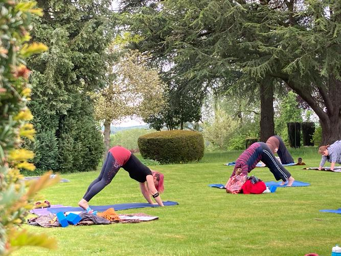 Outdoor Yoga on the Lawn at Holland House with Sharon Gisbourne Join me on Saturday at Holland House, Cropthorne for some oudoor yoga!