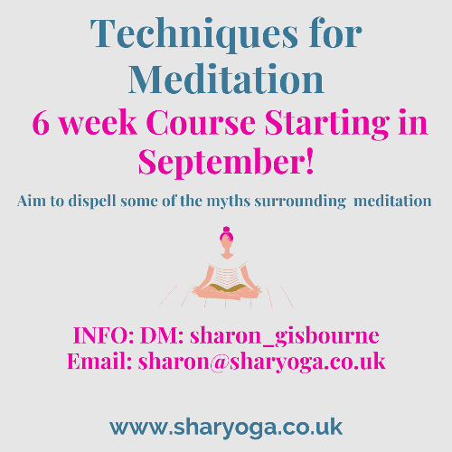 Techniques for Meditation Course New 6 week, online Meditation course. Aim of this course is to dispel some of the myths surrounding meditation. This course will leave you feeling confident and comfortable to evolve your meditation practice and increase your sense of well-being.