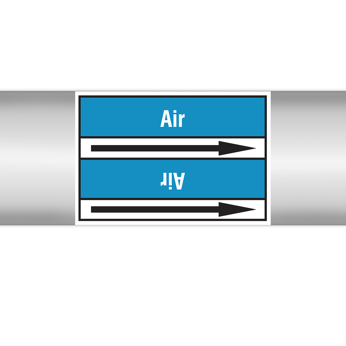 Air Products - European style roll form markers on liner