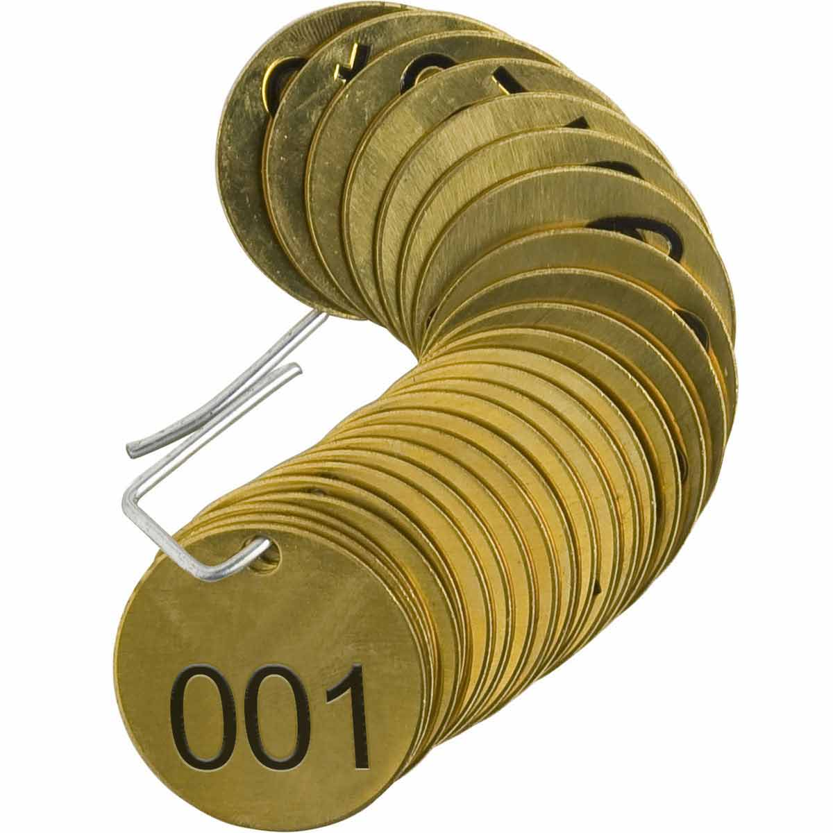 25 x Brass Identification Tags