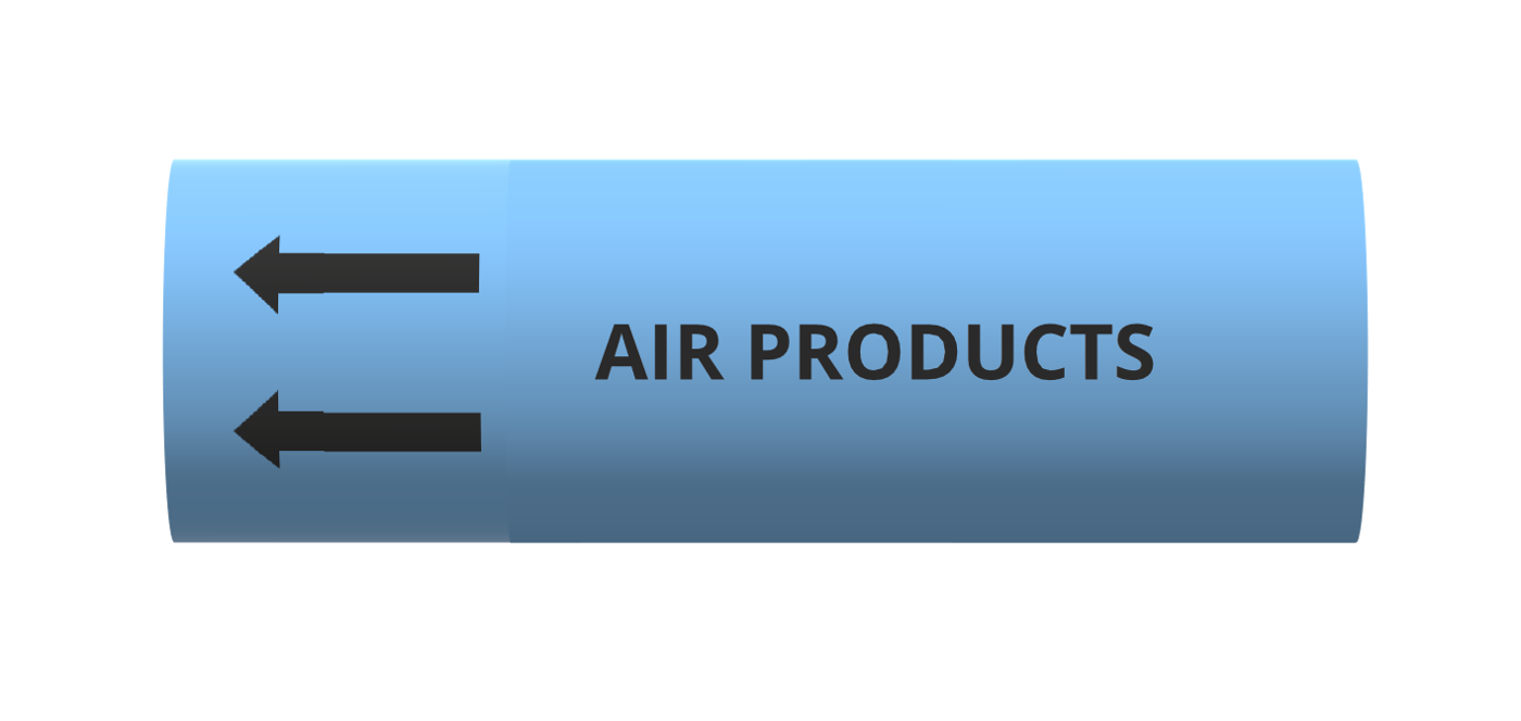 Air Products - BS1710 roll form pipe markers