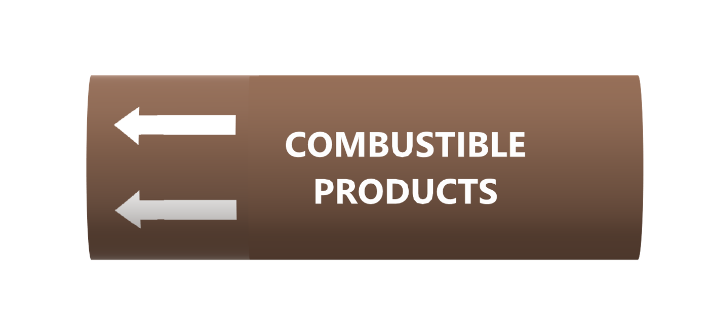 Combustible Fluids - BS1710 roll form pipe markers