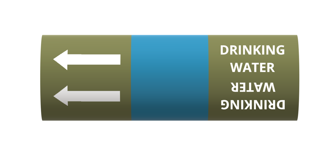 Water (drinking quality) - BS1710 roll form pipe markers