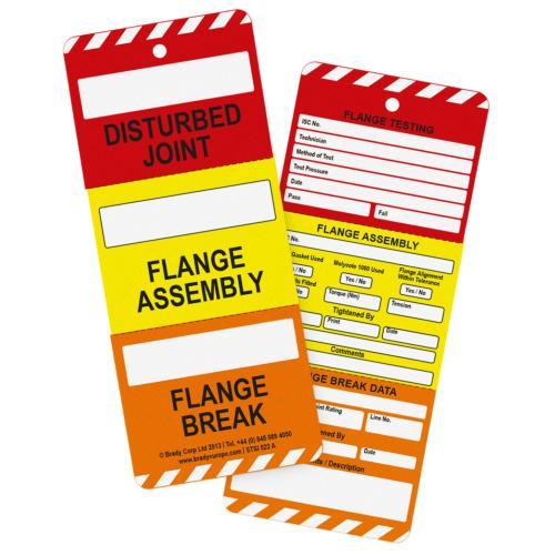 10 X Flange Break Tags 3 Part