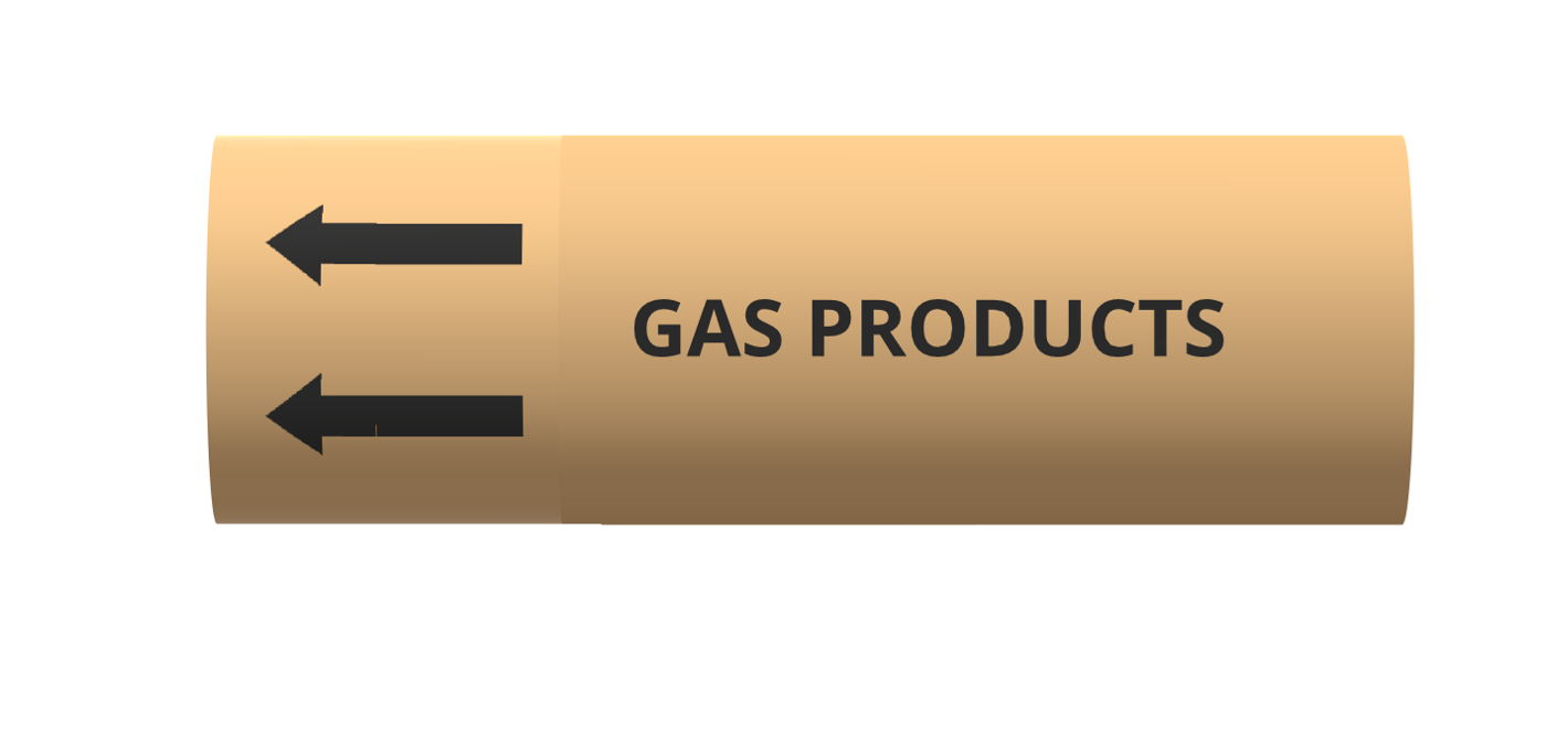 BS Pipe Marker - Gas