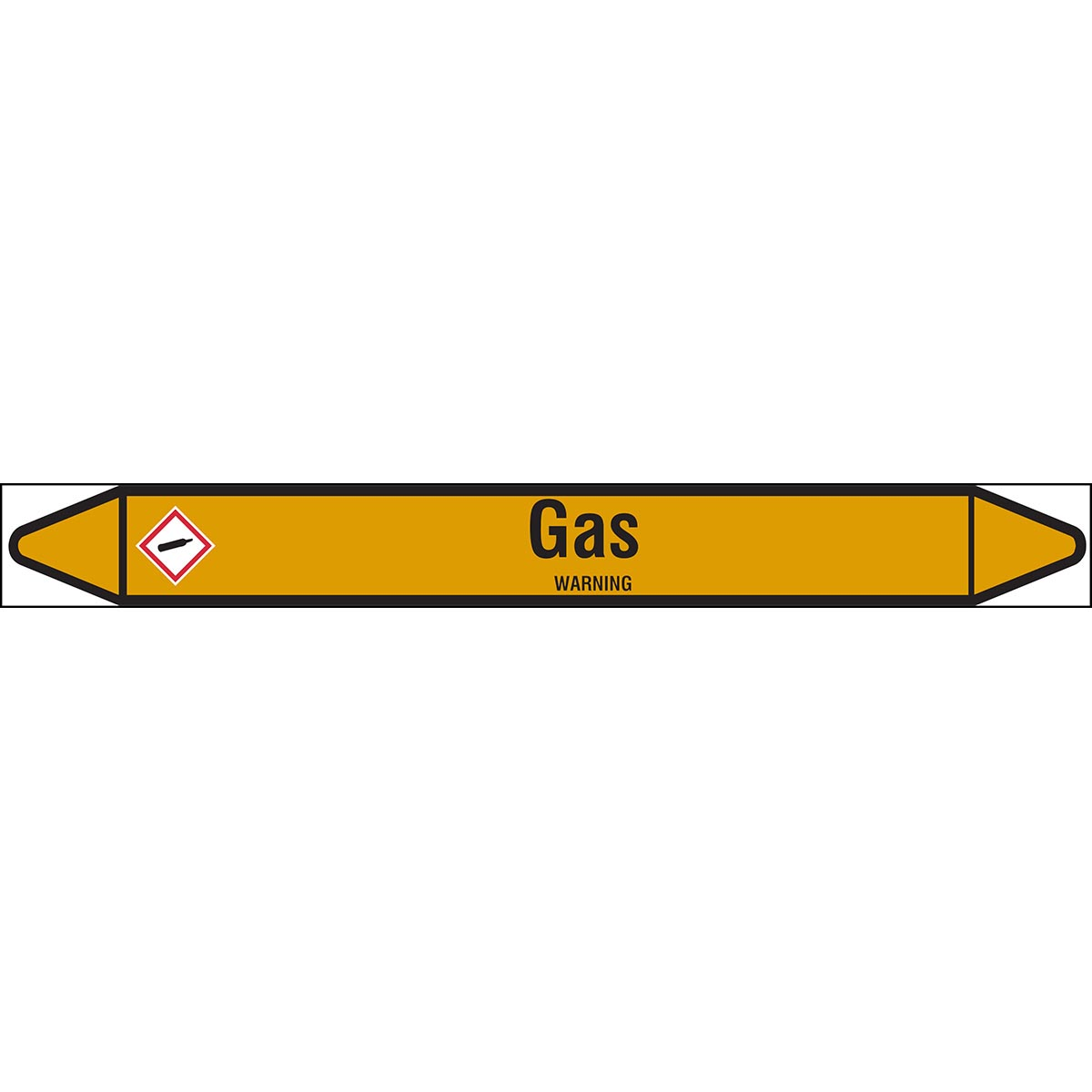 Gas Products - European Style Liner-less Individual Pipe Markers on a roll