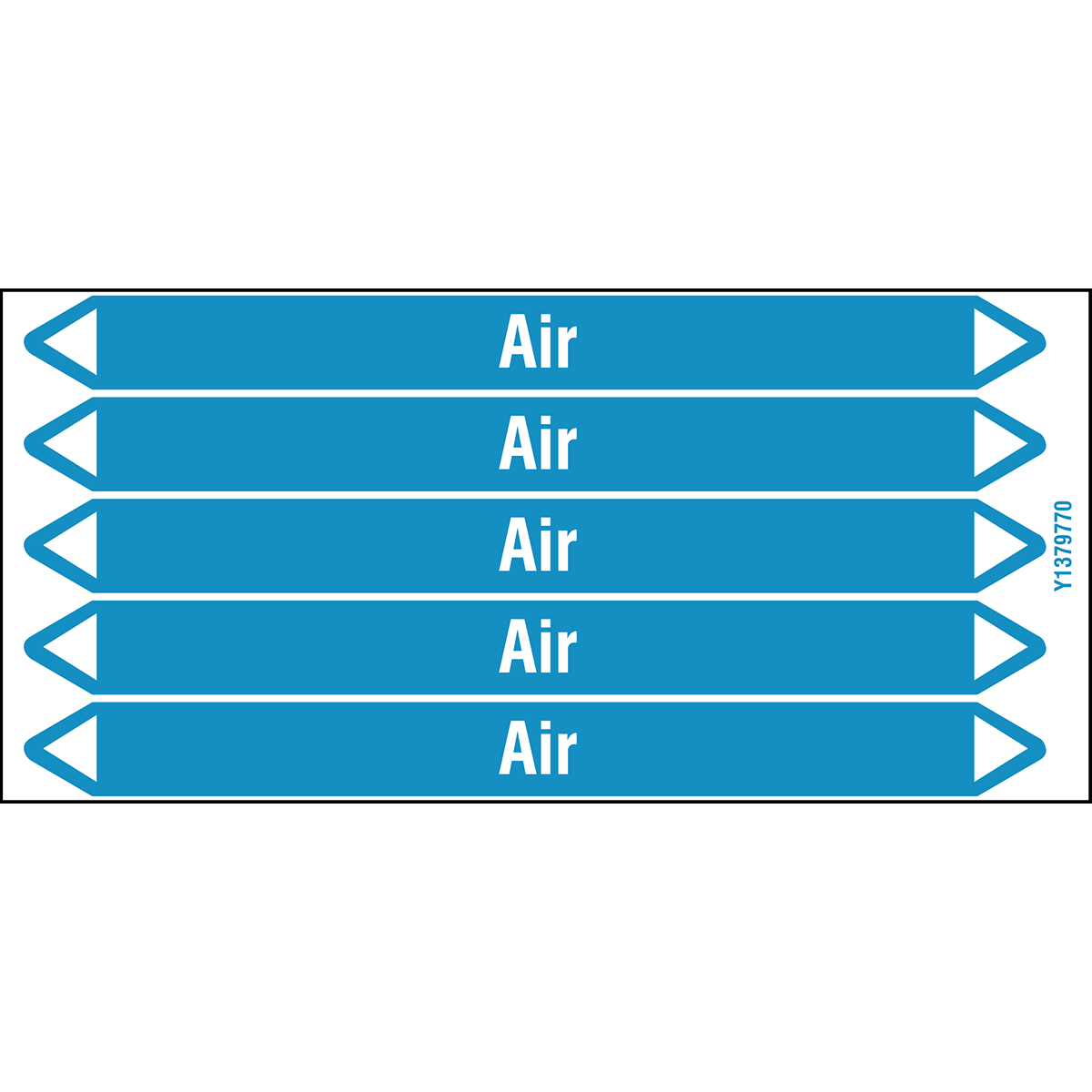 Air Products - European Style Individual Pipe Markers on a card