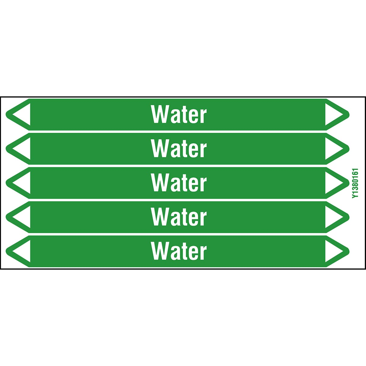 Water products - European Style Individual peel Off pipe markers on a card