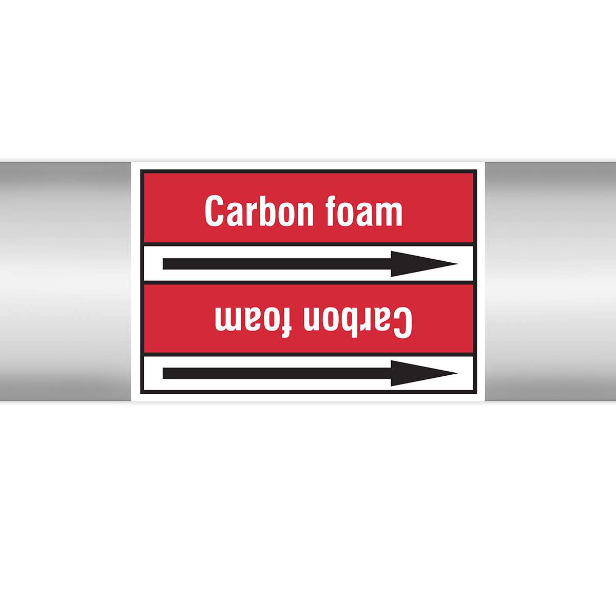Fire Fighting - European Style roll Form Pipe Markers on Liner