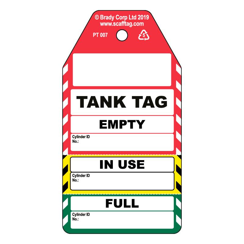 50 x Tank Tag 3 Part Tags