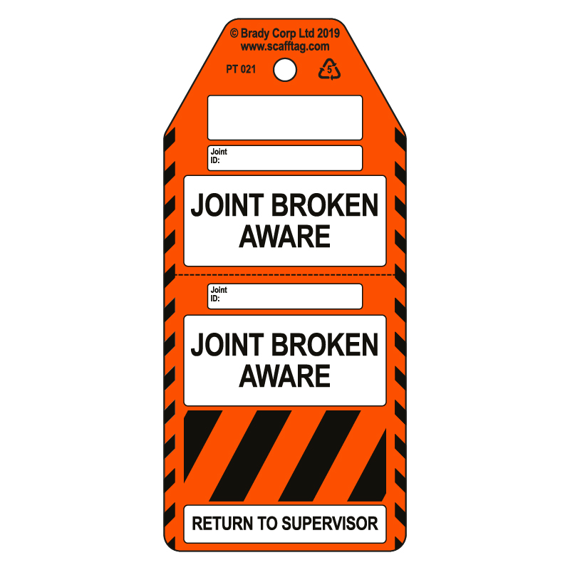 50 x Joint Broken Aware tags