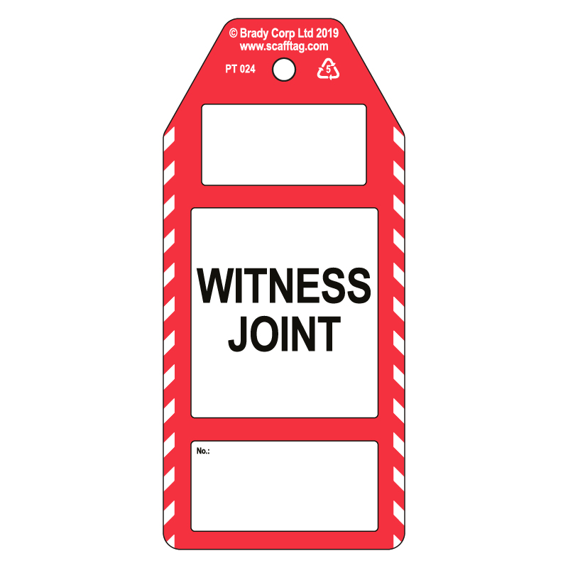 50 x Witness Joint Tags