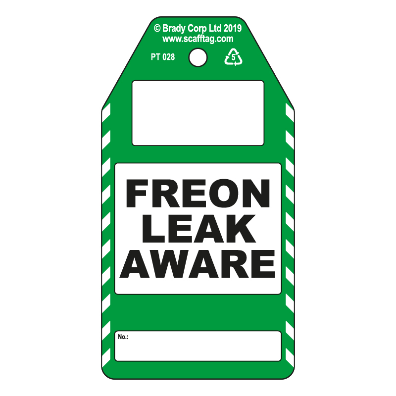50 x Freon Leak Aware Tags
