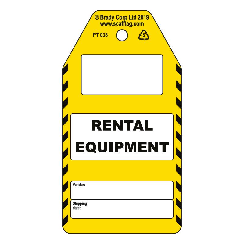 50 x Rental Equipment Tags