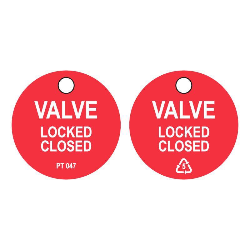 50 x Valve Locked Shut Tags