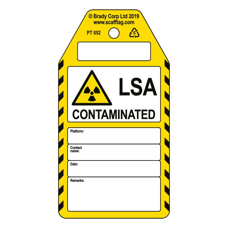 50 x LSA Contaminated tags