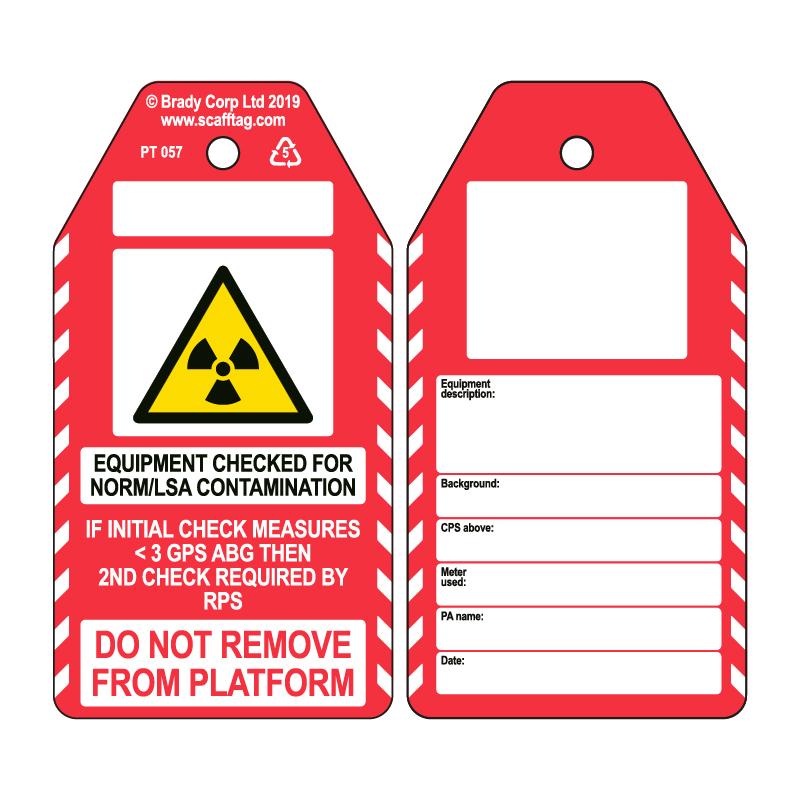 50 x NORM/LSA Contamination Check Tag