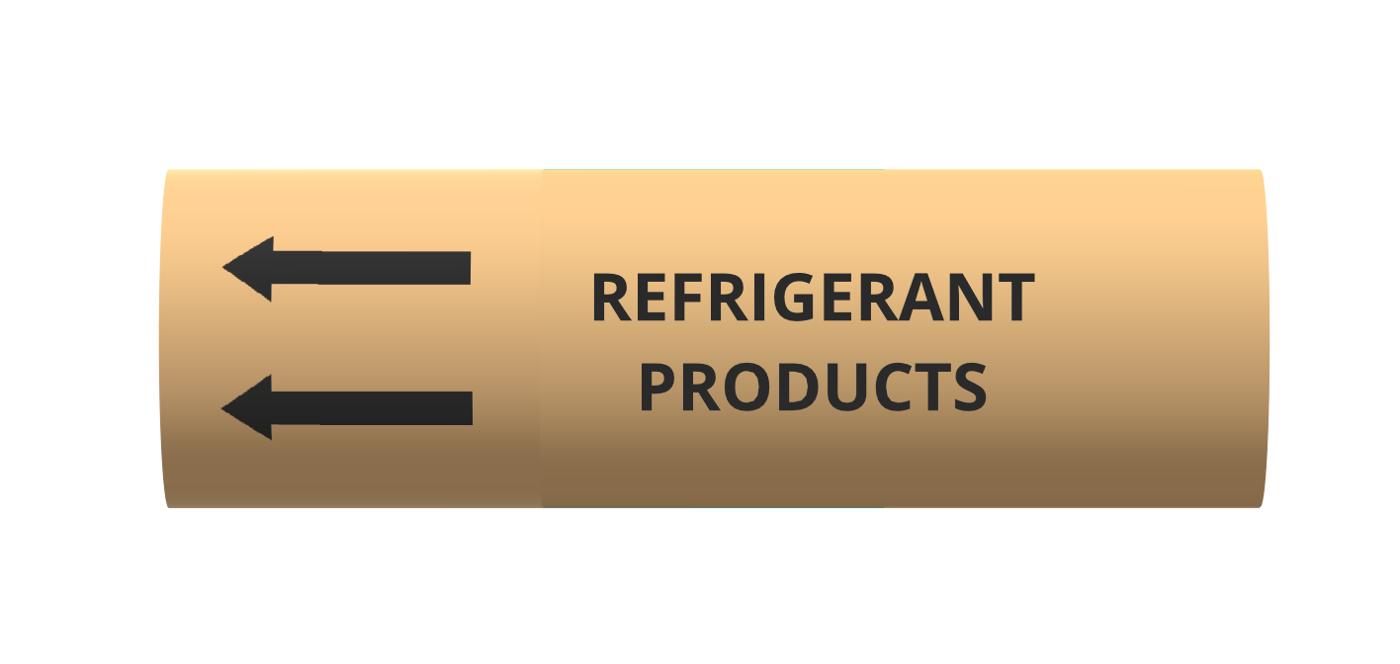 Refrigeration - BS1710 roll form pipe markers