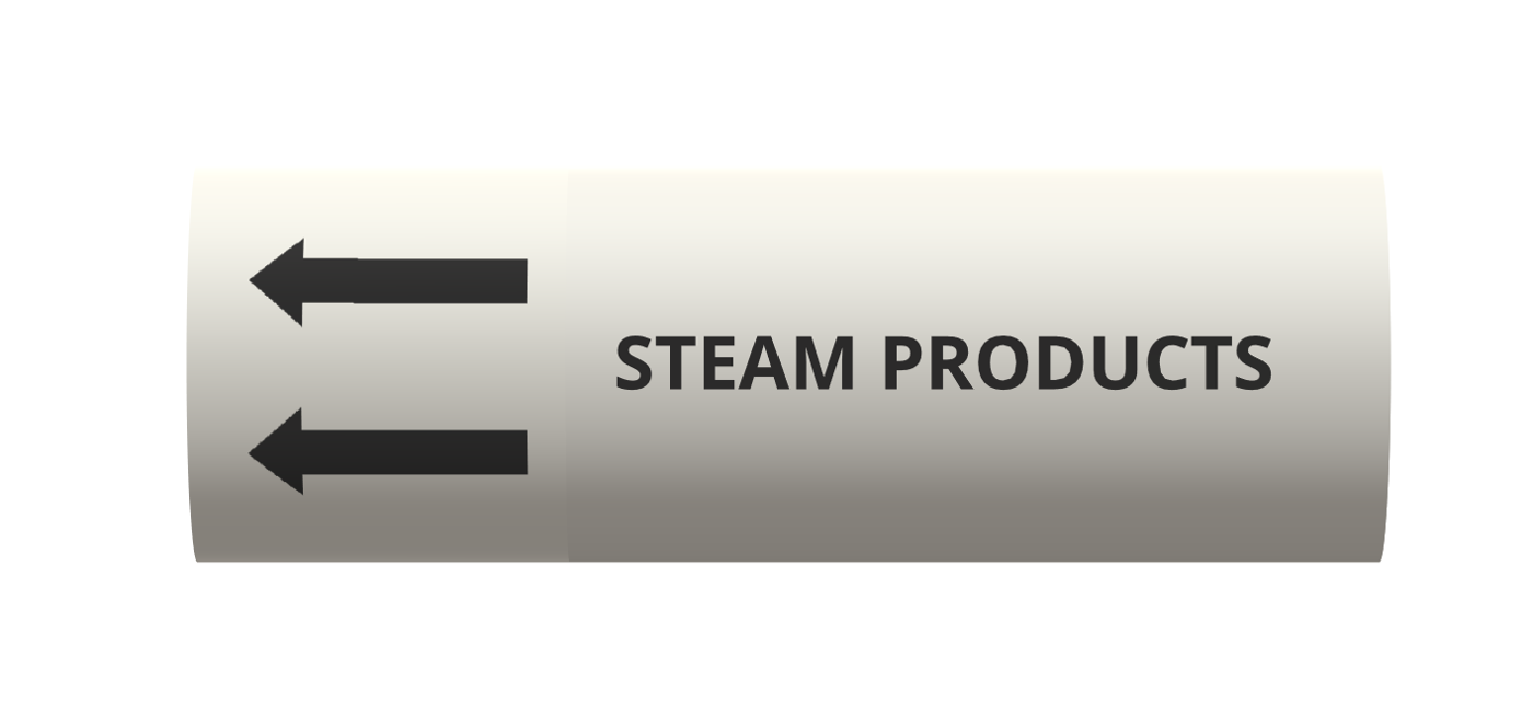 Steam - BS1710 roll form pipe markers