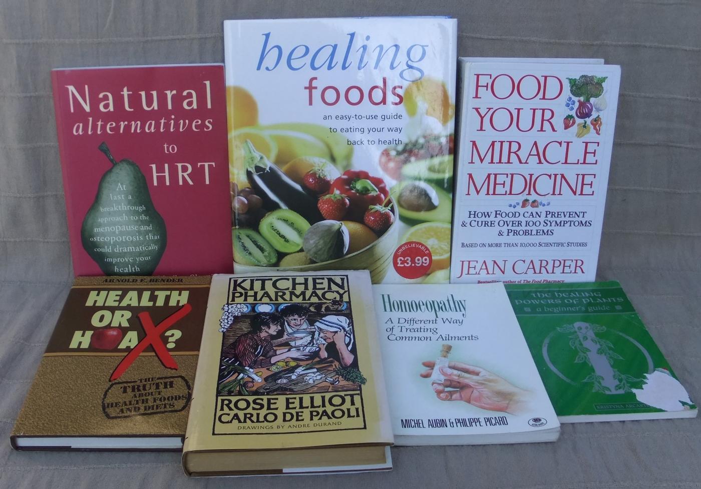 Homeopathy, Health Food, Diet Books